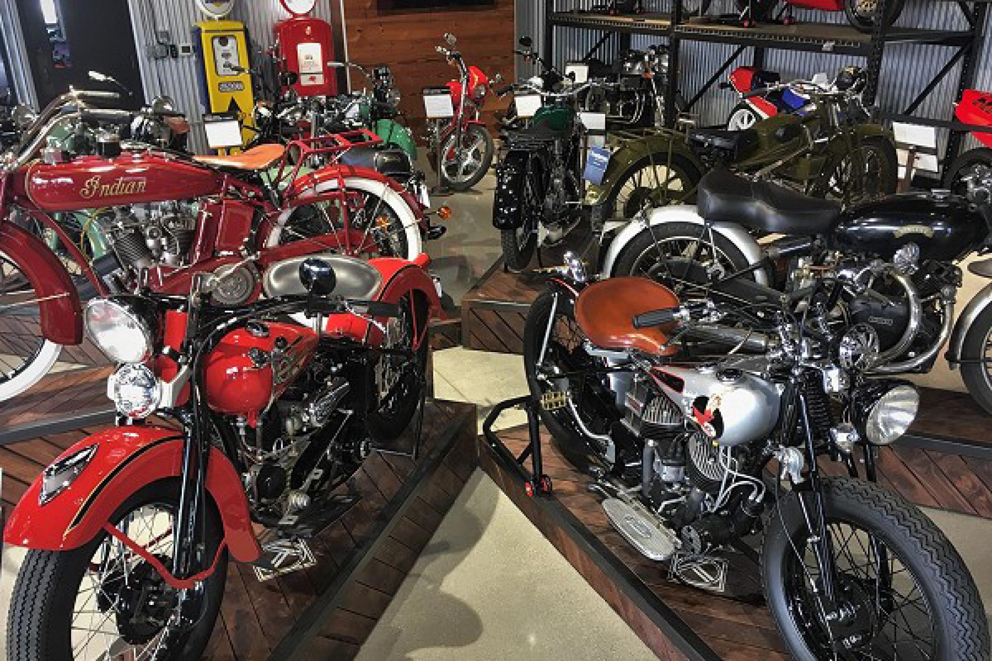 Motorcycles on the showroom floor