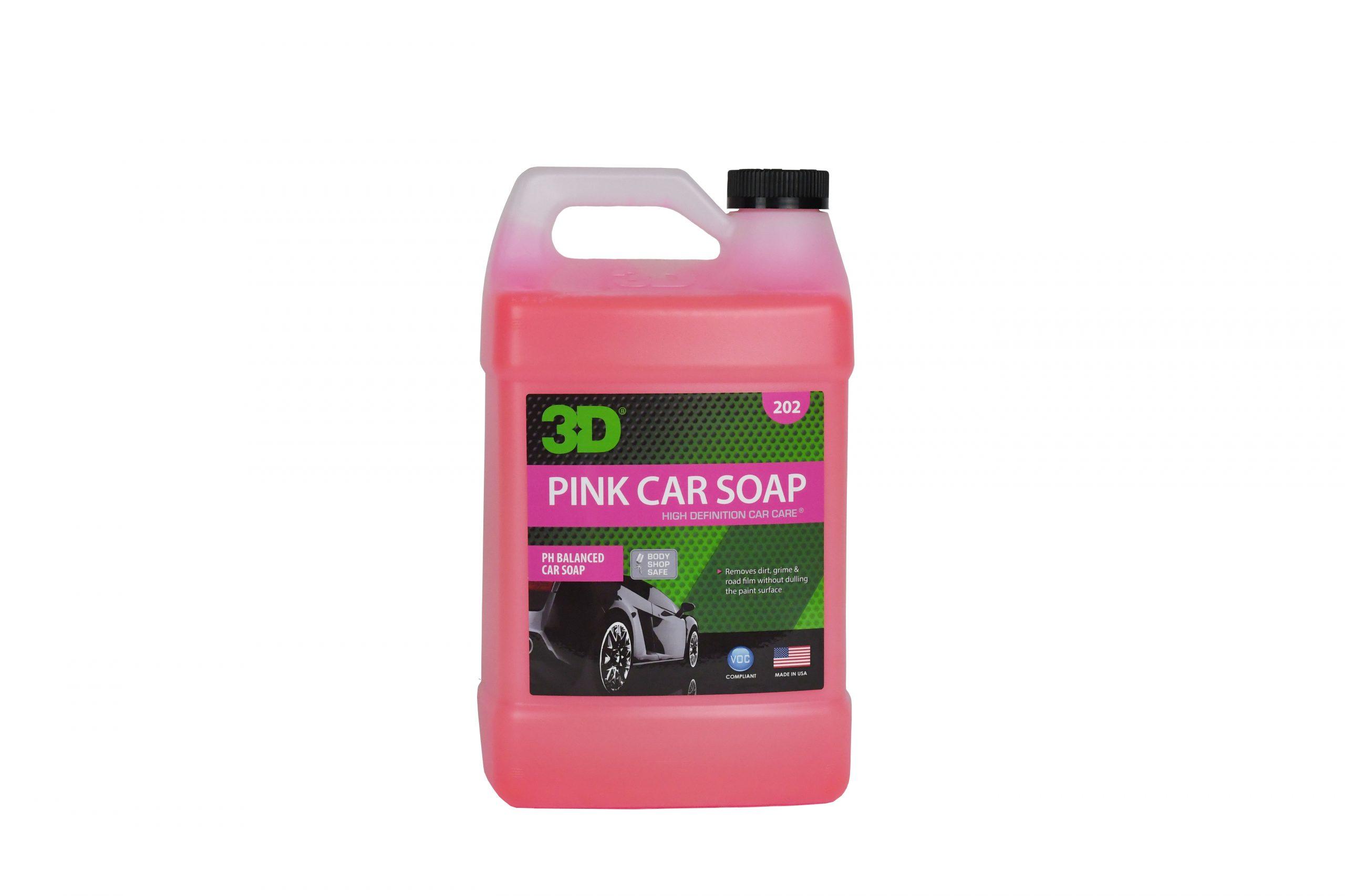 Bottle of Pink Car Soap