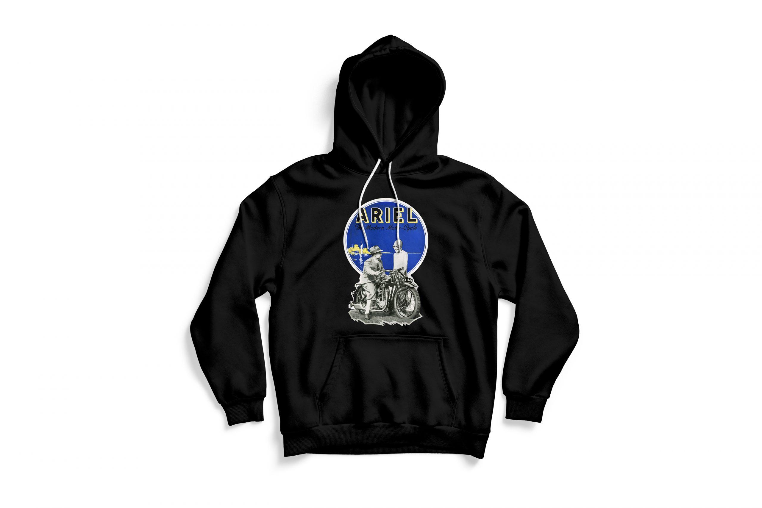 Front of black Ariel hoodie