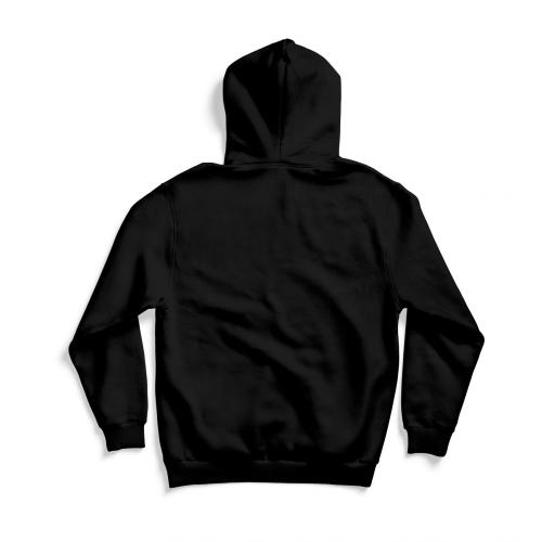 Back of black hoodie