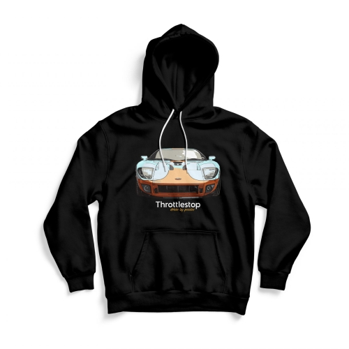 Front of black Ford GT hoodie