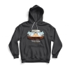 Front of gray Ford GT hoodie
