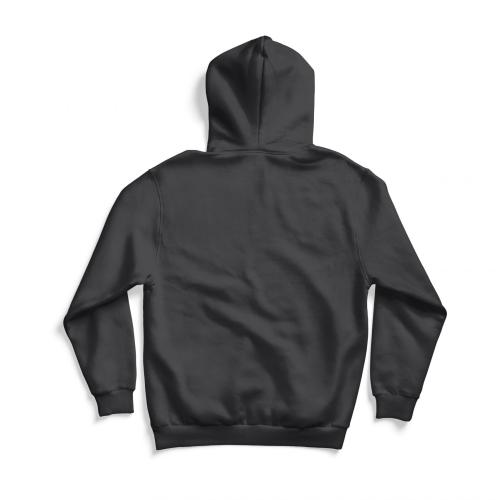 Back of gray hoodie
