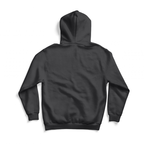 Back of gray 64 Vette hoodie