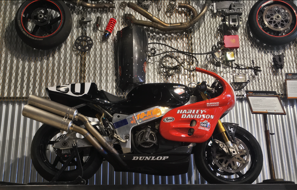 1994 Harley-Davidson VR1000 at the Throttlestop Museum in Elkhart Lake, Wisconsin