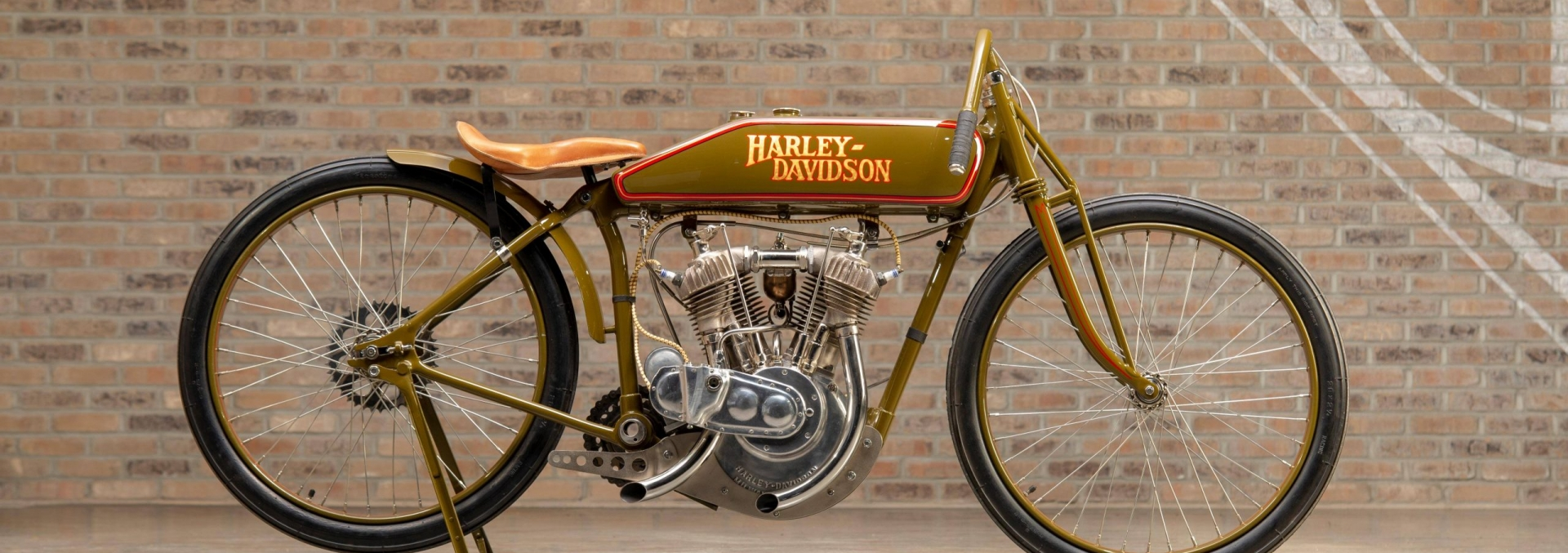 1925 Harley-Davidson Board Track Racer Replica at the Throttlestop Museum