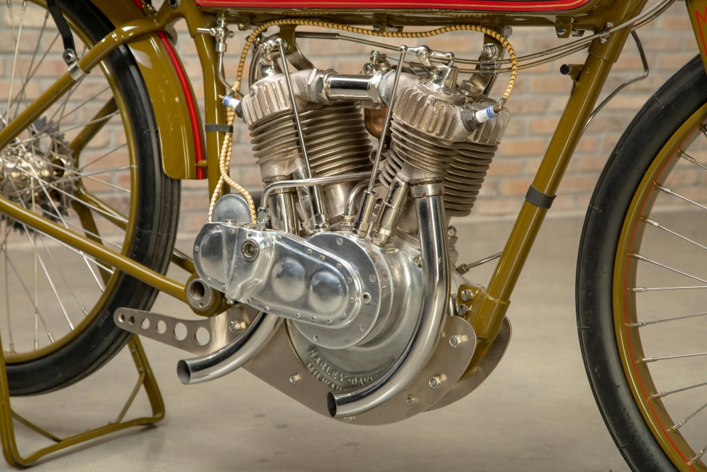 1925 Harley-Davidson Board Track Racer Replica engine at the Throttlestop Museum.