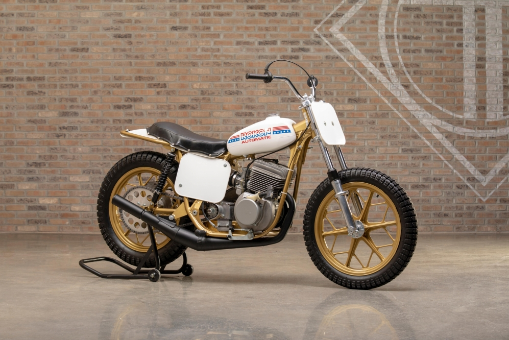 1975 Rokon Automatic Flat Track at the Throttlestop Museum in Elkhart Lake, Wisconsin