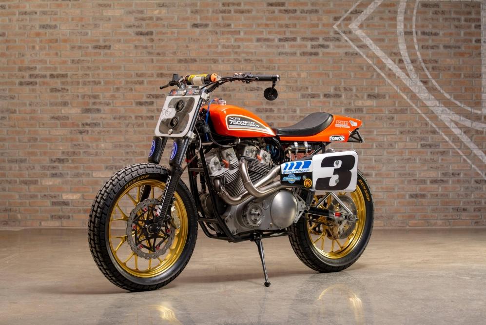 2001 Harley-Davidson XR-750 Race Bike at the Throttlestop Museum in Elkhart Lake, Wisconsin