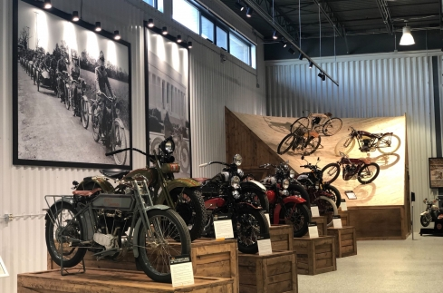 Throttlestop Museum expanded interior of vintage motorcycles and board track